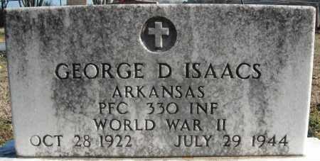 ISAACS (VETERAN WWII), GEORGE D. - Faulkner County, Arkansas   GEORGE D. ISAACS (VETERAN WWII) - Arkansas Gravestone Photos