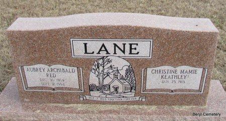 "LANE, AUBREY ARCHIBALD ""RED"" - Faulkner County, Arkansas | AUBREY ARCHIBALD ""RED"" LANE - Arkansas Gravestone Photos"