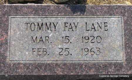 LANE, TOMMY FAY - Faulkner County, Arkansas | TOMMY FAY LANE - Arkansas Gravestone Photos