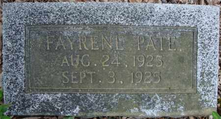 PATE (NEW STONE), FAYRENE - Faulkner County, Arkansas | FAYRENE PATE (NEW STONE) - Arkansas Gravestone Photos
