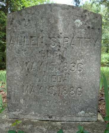 PATTY, ALLEN S. - Faulkner County, Arkansas | ALLEN S. PATTY - Arkansas Gravestone Photos
