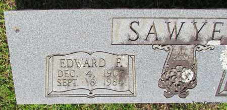 SAWYER, EDWARD F. (CLOSE UP) - Faulkner County, Arkansas | EDWARD F. (CLOSE UP) SAWYER - Arkansas Gravestone Photos