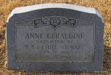 STEWART, ANNE GERALDINE - Faulkner County, Arkansas | ANNE GERALDINE STEWART - Arkansas Gravestone Photos
