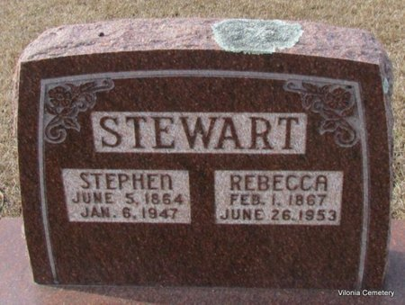 STEWART, REBECCA - Faulkner County, Arkansas | REBECCA STEWART - Arkansas Gravestone Photos