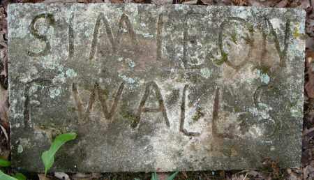 WALLS, SIMIEON C. - Faulkner County, Arkansas | SIMIEON C. WALLS - Arkansas Gravestone Photos