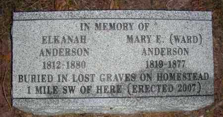 WARD ANDERSON, MARY E. - Franklin County, Arkansas | MARY E. WARD ANDERSON - Arkansas Gravestone Photos
