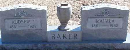 BAKER, ANDREW J - Franklin County, Arkansas | ANDREW J BAKER - Arkansas Gravestone Photos