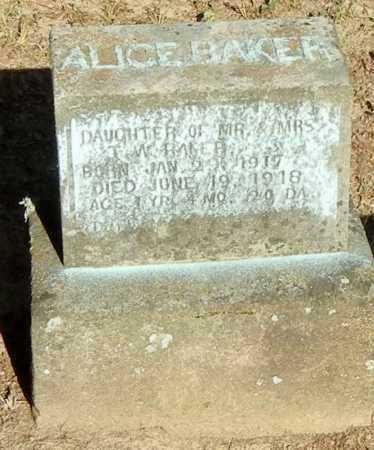 BAKER, ALICE - Franklin County, Arkansas   ALICE BAKER - Arkansas Gravestone Photos