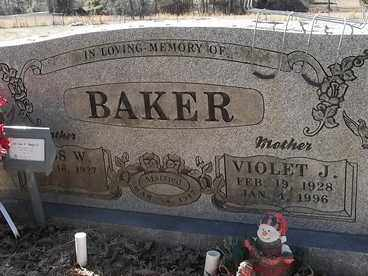 BAKER, VIOLET J - Franklin County, Arkansas | VIOLET J BAKER - Arkansas Gravestone Photos