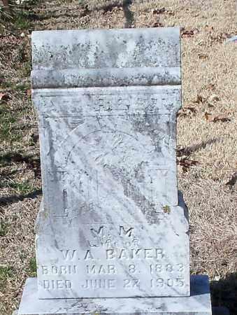 BAKER, M M - Franklin County, Arkansas   M M BAKER - Arkansas Gravestone Photos