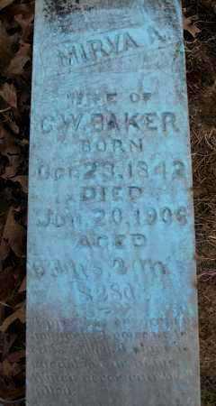 BAKER, MIRVA A - Franklin County, Arkansas   MIRVA A BAKER - Arkansas Gravestone Photos