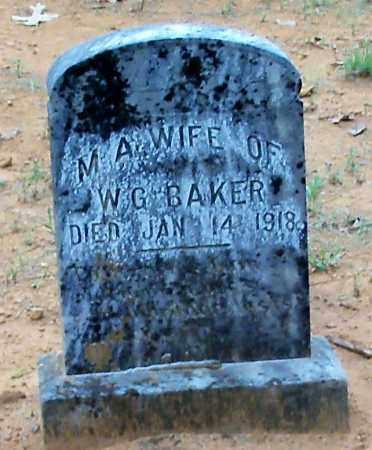 BAKER, M A - Franklin County, Arkansas | M A BAKER - Arkansas Gravestone Photos