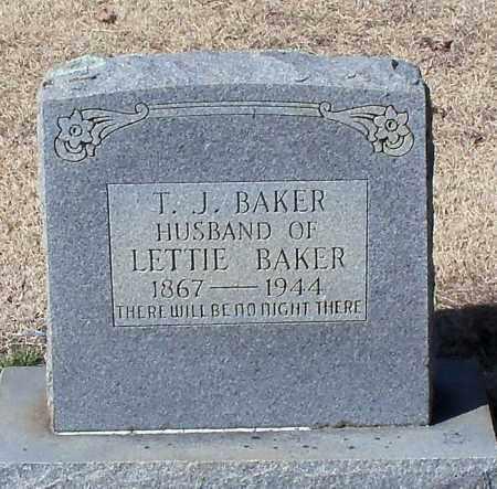 BAKER, T J - Franklin County, Arkansas | T J BAKER - Arkansas Gravestone Photos
