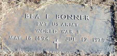 BONNER (VETERAN WWI), BEA FLORENCE - Franklin County, Arkansas   BEA FLORENCE BONNER (VETERAN WWI) - Arkansas Gravestone Photos
