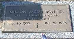 BONNER (VETERAN WWII), MILTON JACOB - Franklin County, Arkansas | MILTON JACOB BONNER (VETERAN WWII) - Arkansas Gravestone Photos