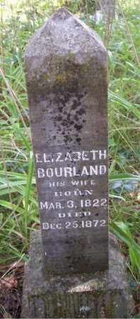 CARNAHAN BOURLAND, ELIZABETH T - Franklin County, Arkansas   ELIZABETH T CARNAHAN BOURLAND - Arkansas Gravestone Photos