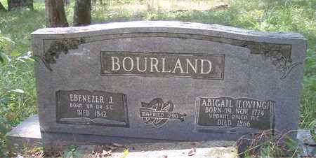 BOURLAND, ABIGAIL - Franklin County, Arkansas | ABIGAIL BOURLAND - Arkansas Gravestone Photos