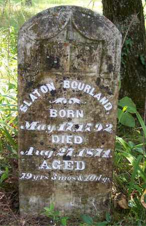 BOURLAND (VETERAN 1812), SLATON - Franklin County, Arkansas | SLATON BOURLAND (VETERAN 1812) - Arkansas Gravestone Photos