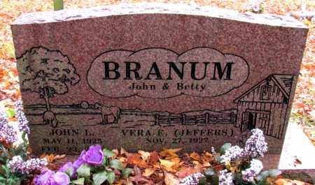 BRANUM, JOHN L - Franklin County, Arkansas | JOHN L BRANUM - Arkansas Gravestone Photos