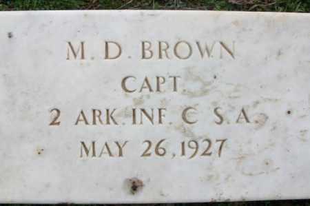 BROWN  (VETERAN CSA), M  D - Franklin County, Arkansas   M  D BROWN  (VETERAN CSA) - Arkansas Gravestone Photos