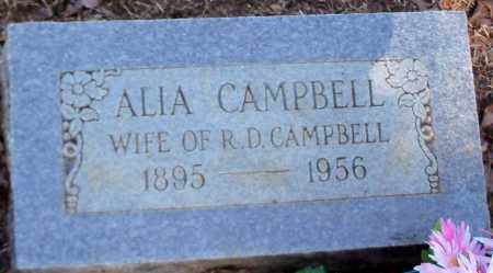 CAMPBELL, ALIA - Franklin County, Arkansas | ALIA CAMPBELL - Arkansas Gravestone Photos