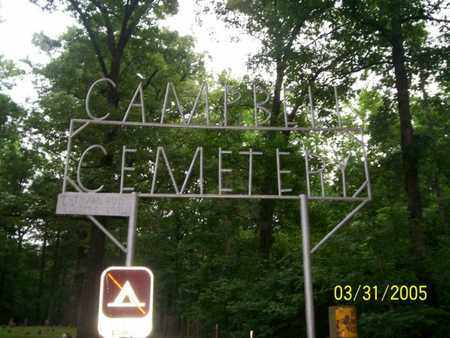 *CAMPBELL CEMETERY SIGN,   - Franklin County, Arkansas |   *CAMPBELL CEMETERY SIGN - Arkansas Gravestone Photos