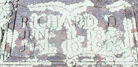 CAMPBELL, RICHARD D (CLOSEUP) - Franklin County, Arkansas   RICHARD D (CLOSEUP) CAMPBELL - Arkansas Gravestone Photos
