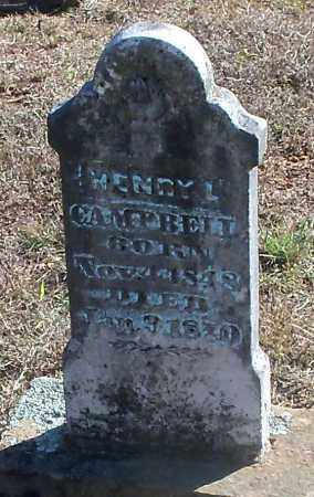 CAMPBELL, HENRY L - Franklin County, Arkansas | HENRY L CAMPBELL - Arkansas Gravestone Photos