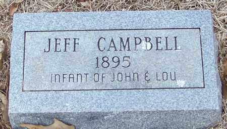 CAMPBELL, JEFF - Franklin County, Arkansas   JEFF CAMPBELL - Arkansas Gravestone Photos