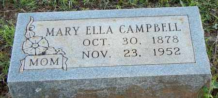 CAMPBELL, MARY ELLA - Franklin County, Arkansas | MARY ELLA CAMPBELL - Arkansas Gravestone Photos