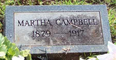CAMPBELL, MARTHA - Franklin County, Arkansas | MARTHA CAMPBELL - Arkansas Gravestone Photos