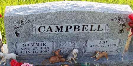 CAMPBELL, SAMMIE - Franklin County, Arkansas | SAMMIE CAMPBELL - Arkansas Gravestone Photos