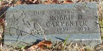 CARPENTER, ROBBIE D - Franklin County, Arkansas   ROBBIE D CARPENTER - Arkansas Gravestone Photos