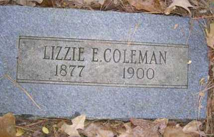 COLEMAN, LIZZIE E - Franklin County, Arkansas   LIZZIE E COLEMAN - Arkansas Gravestone Photos