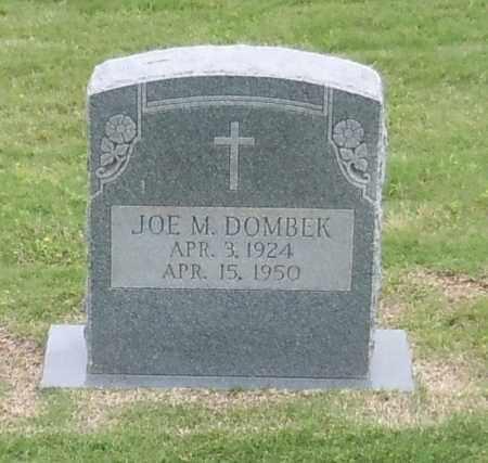 DOMBEK, JOE M - Franklin County, Arkansas | JOE M DOMBEK - Arkansas Gravestone Photos