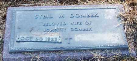 DOMBEK, SYBIL M - Franklin County, Arkansas | SYBIL M DOMBEK - Arkansas Gravestone Photos