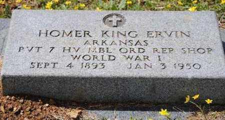ERVIN (VETERAN WWI), HOMER KING - Franklin County, Arkansas | HOMER KING ERVIN (VETERAN WWI) - Arkansas Gravestone Photos