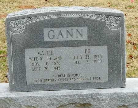 EDWARDS GANN, MATTIE J - Franklin County, Arkansas | MATTIE J EDWARDS GANN - Arkansas Gravestone Photos