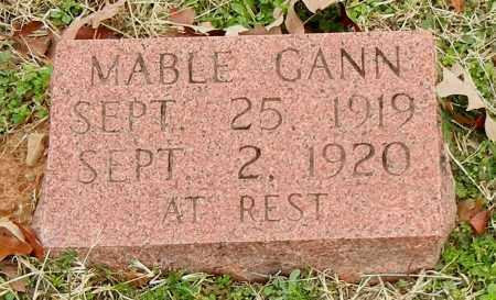 GANN, MABLE - Franklin County, Arkansas | MABLE GANN - Arkansas Gravestone Photos