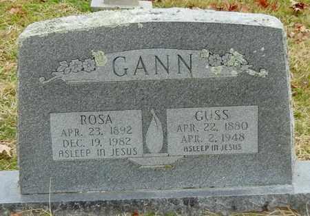GANN, ROSA - Franklin County, Arkansas   ROSA GANN - Arkansas Gravestone Photos