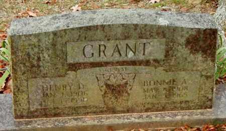 GRANT, HENRY DAVID - Franklin County, Arkansas | HENRY DAVID GRANT - Arkansas Gravestone Photos