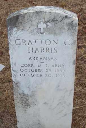 HARRIS (VETERAN), GRATTON CHARLES - Franklin County, Arkansas | GRATTON CHARLES HARRIS (VETERAN) - Arkansas Gravestone Photos
