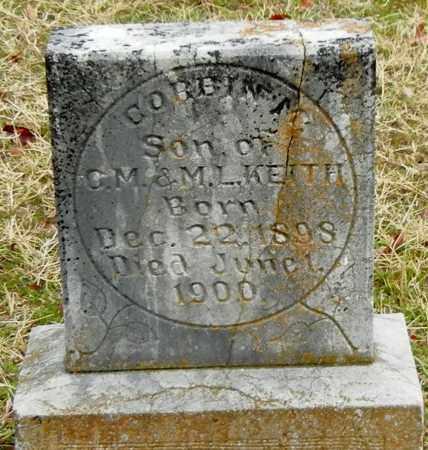 KEITH, CORBIN M - Franklin County, Arkansas | CORBIN M KEITH - Arkansas Gravestone Photos