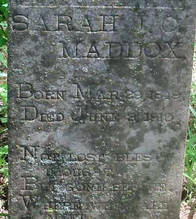 MADDOX, SARAH JO (CLOSEUP) - Franklin County, Arkansas   SARAH JO (CLOSEUP) MADDOX - Arkansas Gravestone Photos