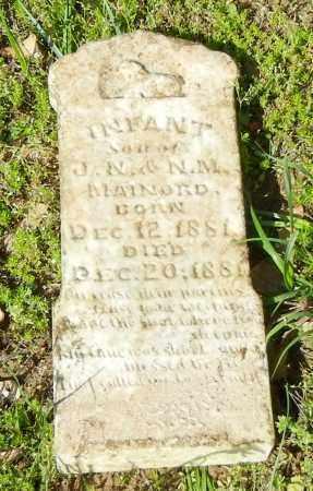 MAINARD, INFANT SON - Franklin County, Arkansas | INFANT SON MAINARD - Arkansas Gravestone Photos