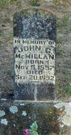 MCMILLAN, JOHN G - Franklin County, Arkansas | JOHN G MCMILLAN - Arkansas Gravestone Photos