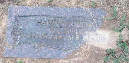 NICHOLS, HAMPTON ELMO - Franklin County, Arkansas   HAMPTON ELMO NICHOLS - Arkansas Gravestone Photos