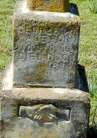 PAGE, GEORGE WASHINGTON (CLOSEUP) - Franklin County, Arkansas | GEORGE WASHINGTON (CLOSEUP) PAGE - Arkansas Gravestone Photos
