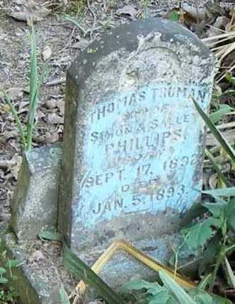 PHILLIPS, THOMAS TRUMAN - Franklin County, Arkansas | THOMAS TRUMAN PHILLIPS - Arkansas Gravestone Photos