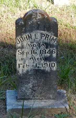 PRIM, JOHN E - Franklin County, Arkansas   JOHN E PRIM - Arkansas Gravestone Photos